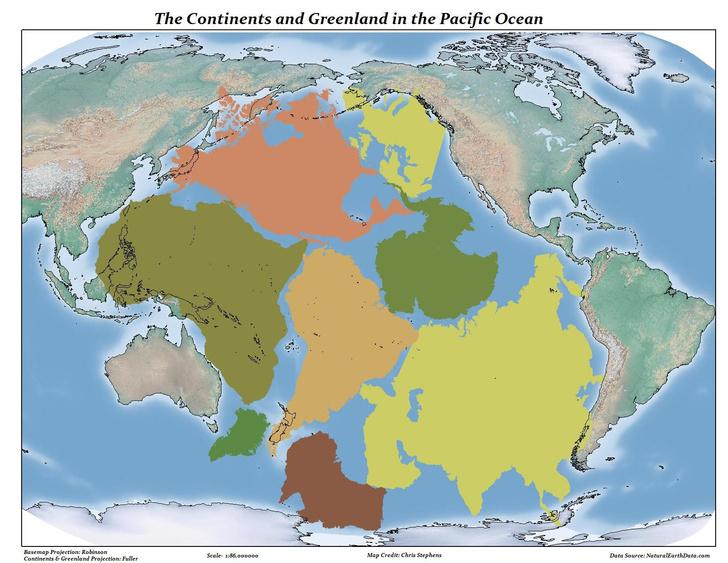 Фото №2 - Карта: Насколько огромен Тихий океан на самом деле