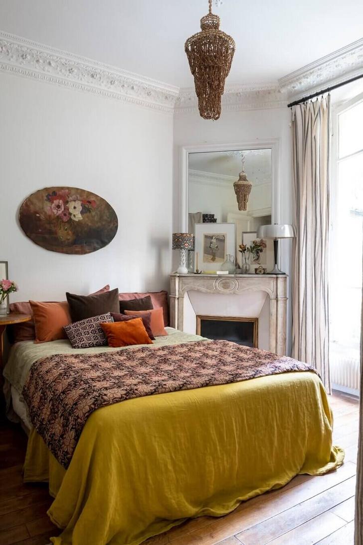 Фото №8 - Маленькая квартира с цветочными мотивами в Париже