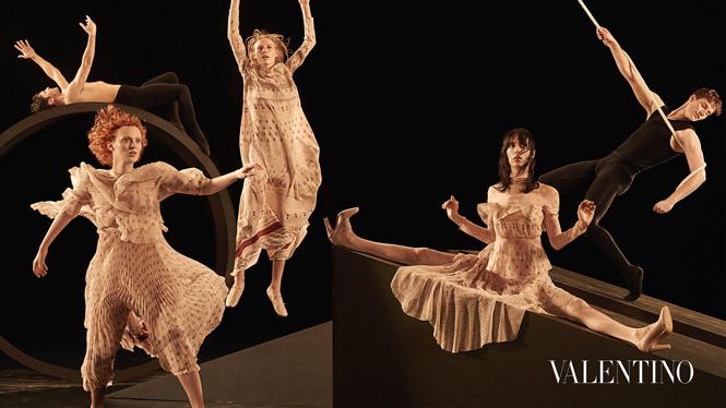 Фото №3 - Fashion-танец в осенней кампании Valentino