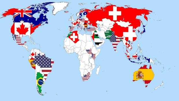 Фото №1 - Карта: где хотели бы жить граждане разных стран