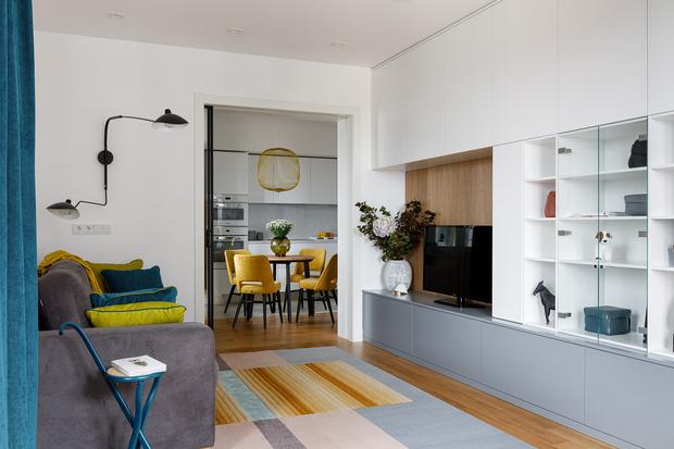 Фото №5 - Квартира молодой девушки в стиле mid-century modern 68 м²