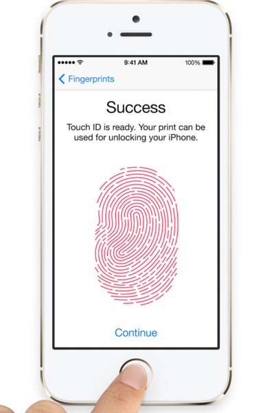 iPhone 5S, Touch ID
