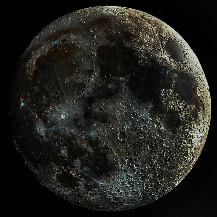 Фото №2 - Парень две недели фотографировал Луну и объединял снимки, чтобы показать ее сумасшедшую текстуру (фото)