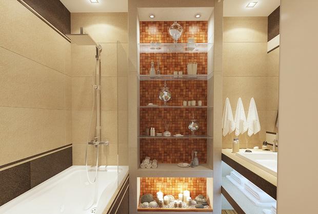 Фото №1 - Удачный дизайн ванной комнаты