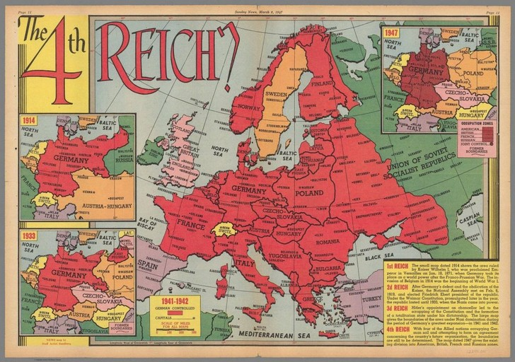 Фото №4 - Карты: Как западные страны, противники Германии, представляли себе ее победу в войне