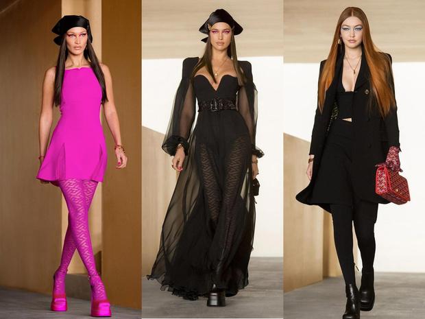Фото №1 - Показ Versace: стройная и рыжая Джиджи, роковая Ирина и кукольная Белла
