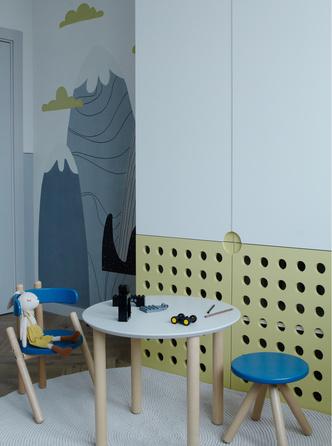 Фото №7 - Охра и олива: современная квартира для дружной семьи в Минске