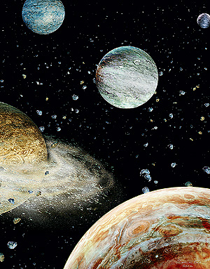 Фото №1 - Почему планеты, спутники и звезды круглые, а астероиды нет?
