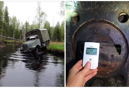 Автоблогеры на ЗИЛ-157 пробрались к заброшенному ДОТу на «линии Сталина» (видео)