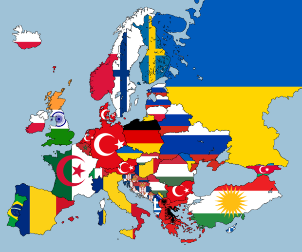 Фото №2 - Карта: вторая самая распространенная национальность в странах Европы