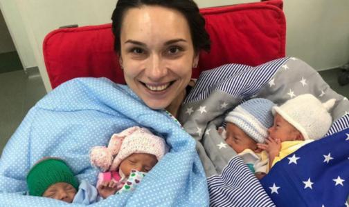 Фото №1 - Жительница Подмосковья в 32 года впервые стала мамой - сразу четверни. Как и петербурженка день назад