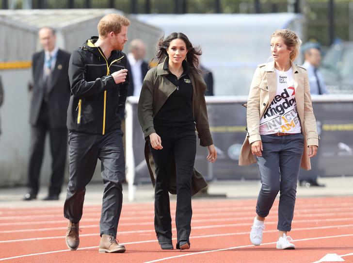 Фото №1 - Меган Маркл и принц Гарри приехали на спортивное соревнование