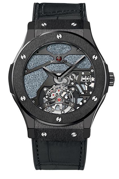 Часы Classic Fusion Tourbillon Skull, алюминий с керамическим покрытием, Hublot.