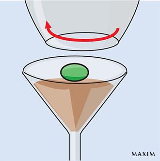 Фото №4 - Элементарный фокус с бокалом и оливкой