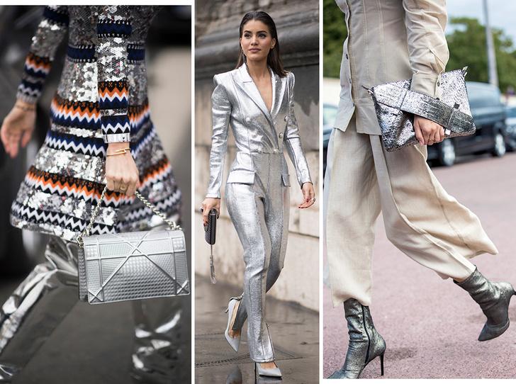 Фото №1 - Стальной блеск: как носить вещи в цвете металлик повседневно