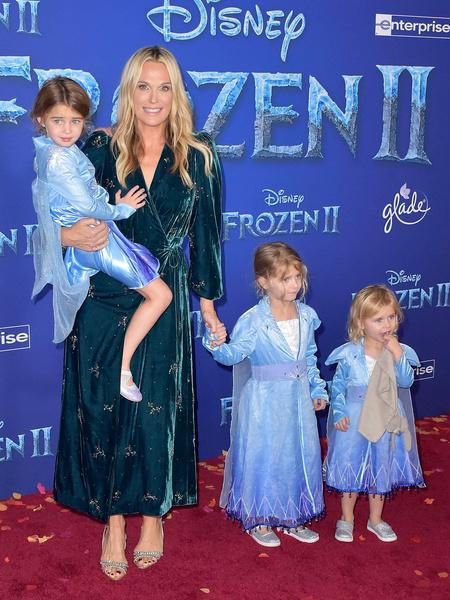 Молли Симс с детьми