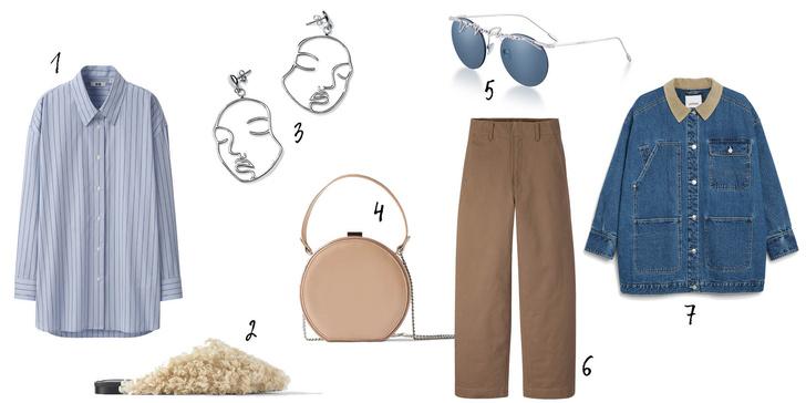 1, 6. Uniqlo, 2, 4. Zara, 3. Sunlight, 5.  Emporio Armani Eyewear, 7. Monki