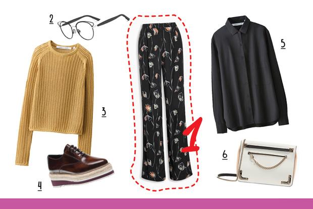 Фото №3 - С чем носить брюки с цветочным принтом