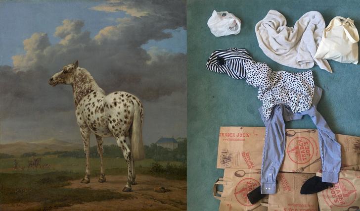 Фото №1 - Люди в карантине копируют шедевры живописи из всего, что под рукой: 13 удачных работ