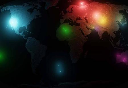 Карта мира со всеми ядерными взрывами с 1945 по 2019 год