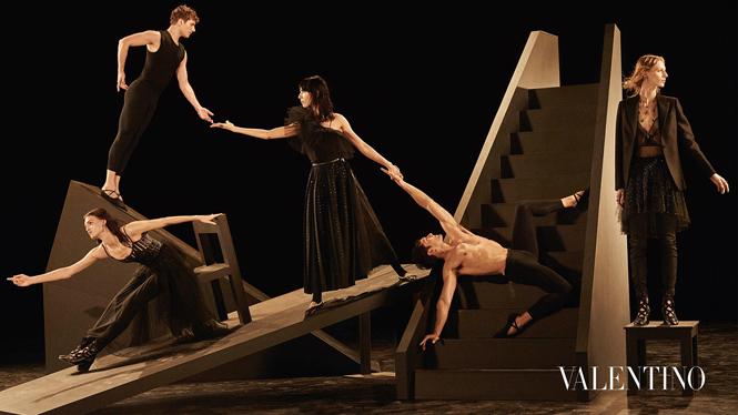 Фото №6 - Fashion-танец в осенней кампании Valentino