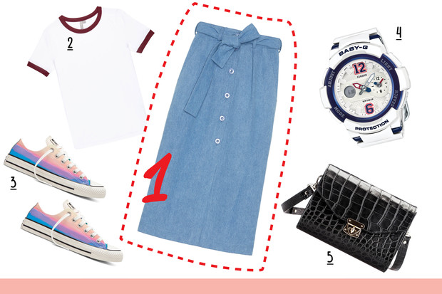 Фото №2 - С чем носить джинсовую юбку