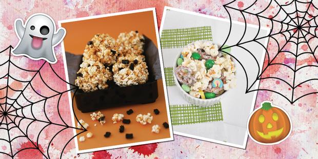 Попкорн из белого шоколада простой рецепт хэллоуин