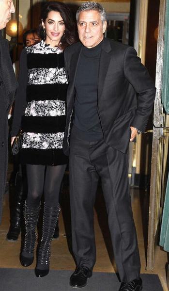 Фото №5 - Всегда безупречна: 11 лучших нарядов беременной Амаль Клуни