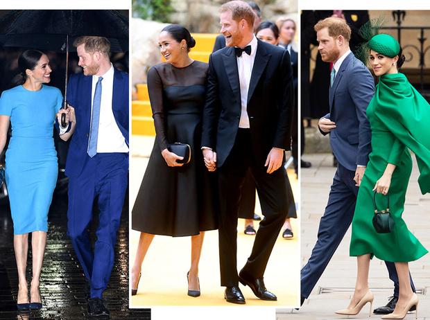 Фото №1 - Их модные Высочества: лучшие парные образы Меган и Гарри