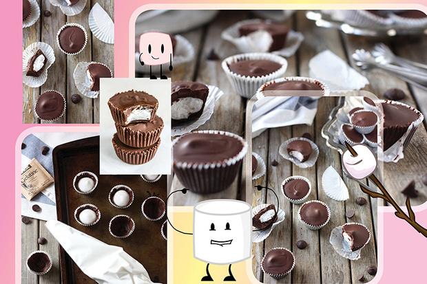 Шоколадные конфеты с маршмеллоу