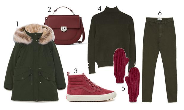 Фото №1 - Тепло и стильно: 3 модных лука с кедами, которые можно носить зимой