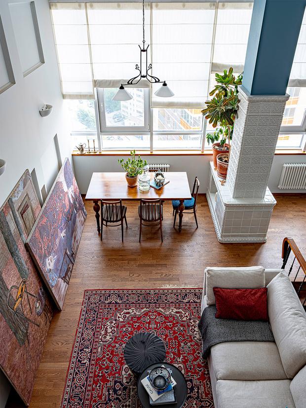 Фото №1 - Двухэтажный пентхаус в стиле бохо в Перми