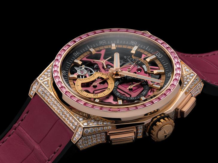 Фото №1 - В розовом цвете: Zenith представил новинку Defy 21 Pink Edition