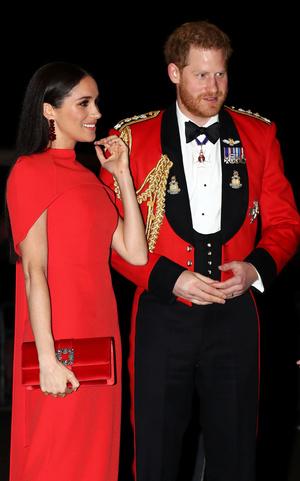 Фото №18 - Их модные Высочества: лучшие парные образы Меган и Гарри