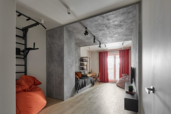 Фото №10 - Бетонная квартира 115 м² с камином в Санкт-Петербурге