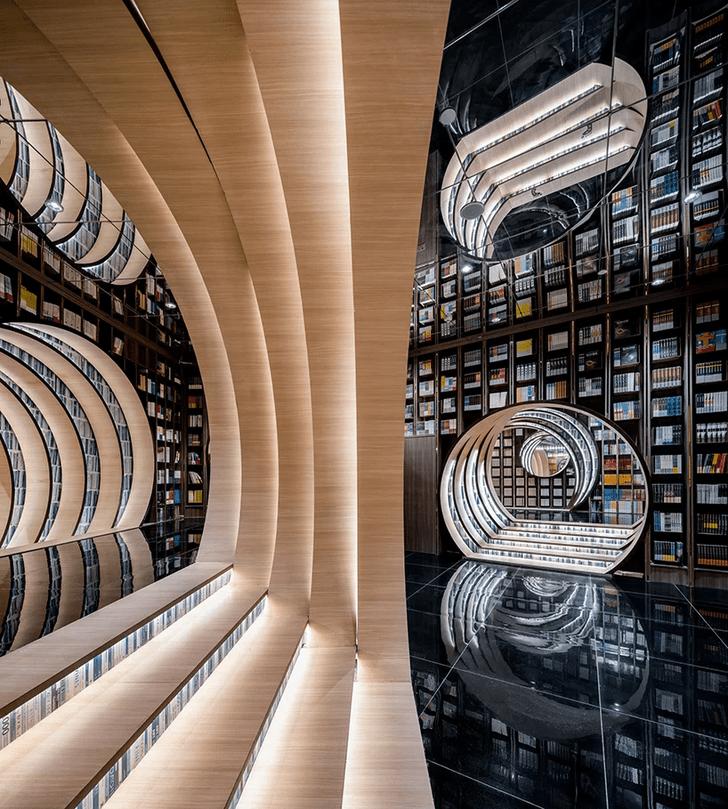 Фото №1 - Футуристичный книжный в Пекине по проекту X+Living