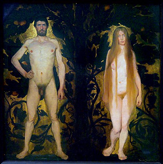 Фото №15 - Галерея: как изображали Адама и Еву последние  2000 лет