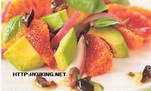 Салат из авокадо с апельсинами и заправкой