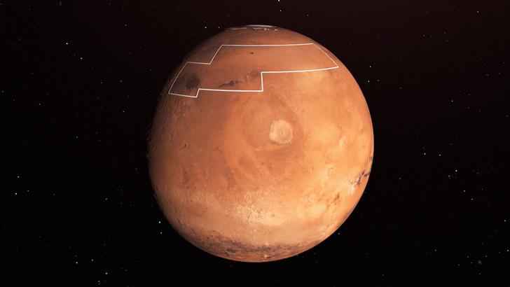 Фото №1 - В НАСА рассказали о предполагаемом месте для высадки людей на Марсе