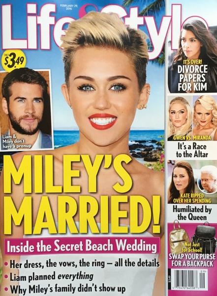 Фото №1 - OMG! Майли и Лиам тайно поженились?!