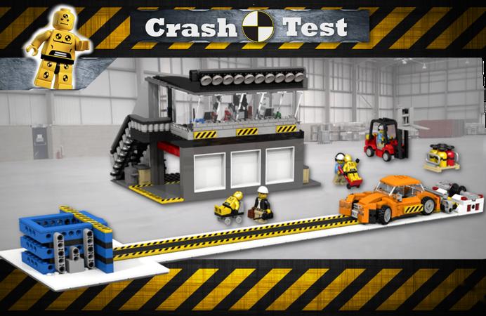 Фото №2 - Немецкий автоклуб устроил краш-тест автомобилей из Lego (видео)