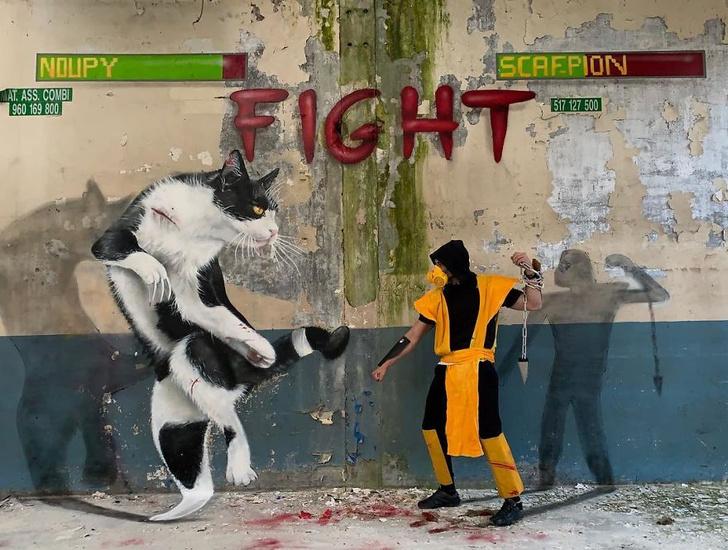 Фото №1 - 30 «выпрыгивающих из стен» граффити от французского коллектива