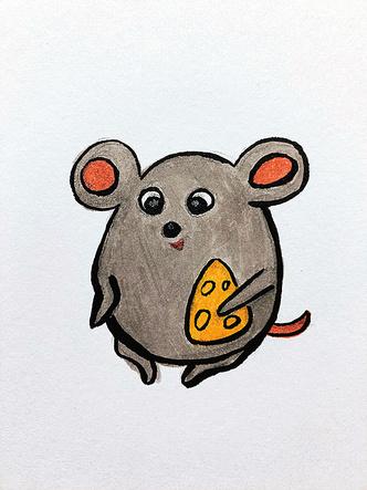 Фото №12 - Нани Брегвадзе, Ивар Калныньш и другие звезды нарисовали крыс на удачу