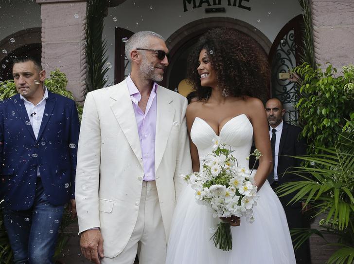 Фото №4 - Свершилось: Венсан Кассель и Тина Кунаки сыграли свадьбу
