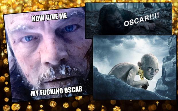 Фото №2 - Леонардо Ди Каприо получает «Оскара»: лучшие мемы и видео