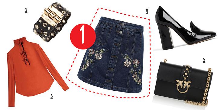 Фото №5 - С чем носить юбку с пуговицами