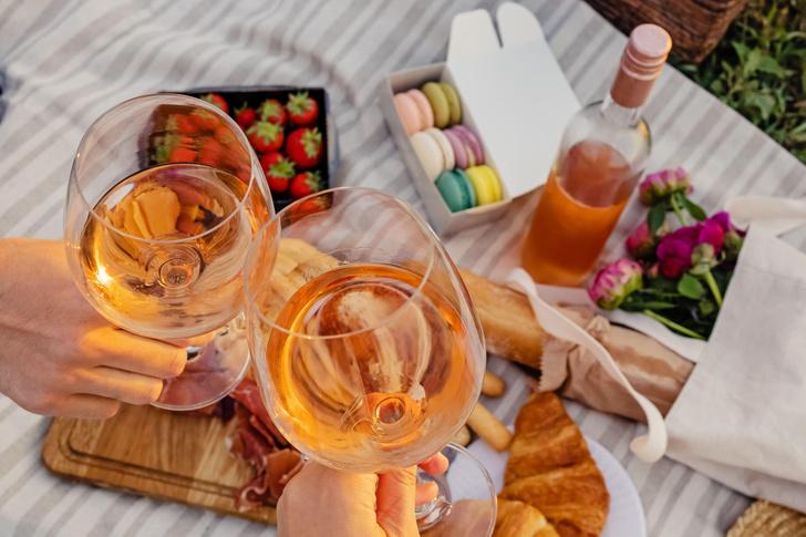 Стеклянные стаканы для пикника