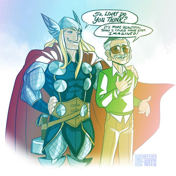 Фото №6 - Так трогательно: фанаты Marvel нарисовали комиксы в память о Стэне Ли