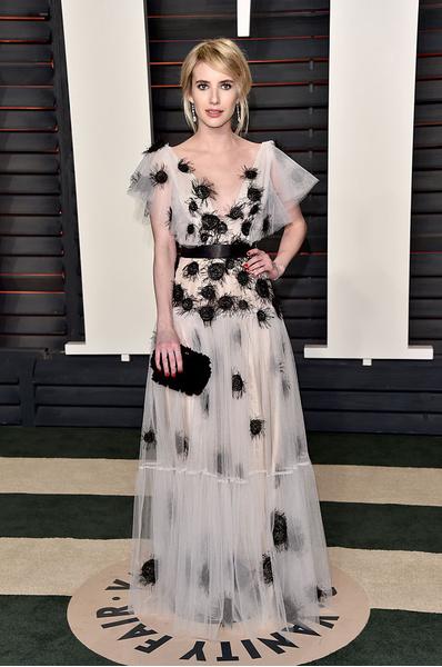Эмма Робертс в платье от Yanina Couture