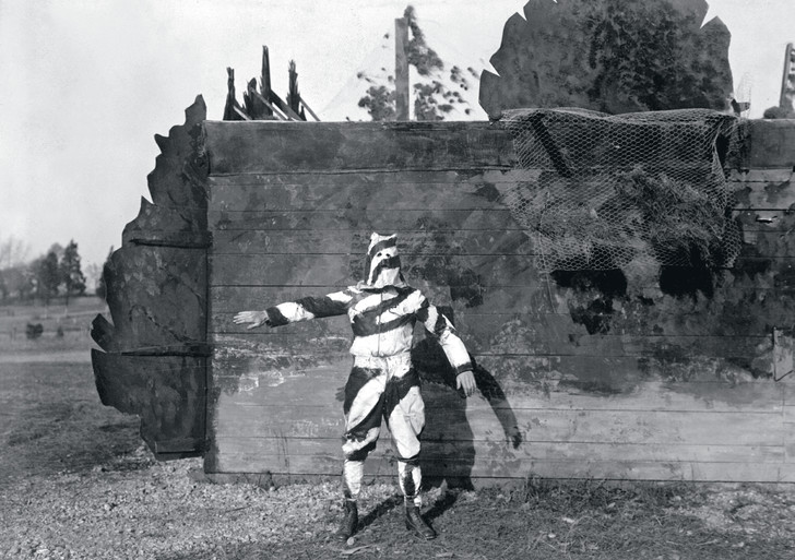 Экспериментальный камуфляж армии США, 1917г.